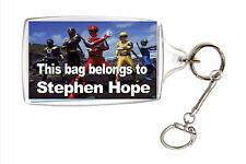 Personalised Power Rangers School Bag ID Name Tag