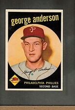 1959 Topps George Sparky Anderson #338 GB Philadelphia Phillies Rookie NM-MT