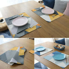 Waterproof Geometric Placemats Dinner Table Mats Table Decor Pad Heat Resistant