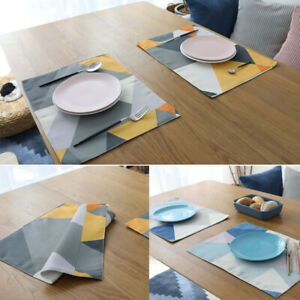 Waterproof Rectangular Coaster Table Placemat Dining Party Table Cup Placemats