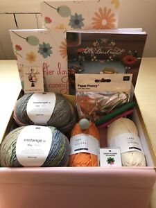 Amanda Bloom Little Box Of Crochet April 2021 Bag & Necklace. Complete box.