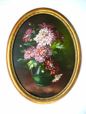 Blumenbild Gemälde um 1900 Signiert Ölbild Bild B-413