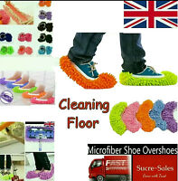 1 Pair Dust Cleaner Slippers Shoe Cover Mop Cloth Bathroom Floor Cleaning UK