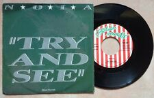 """N.O.I.A. / TRY AND SEE - TRUE LOVE - 7"""" (Italy 1985) EX/EX--"""