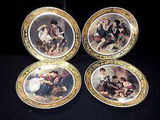 Rare Antique Lot of T. Limoges Depos Barlolome Esteban Murillo Wall Plates