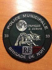 PATCH POLICE FRANCE - 33 BRIGADE DE NUIT - ORIGINAL!