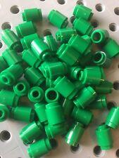 Lego Green 1x1 Round Barrel Brick Cone Pieces Palm Tree  New Lot Of 50