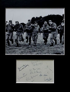 DAD'S ARMY signed autographs PHOTO DISPLAY Arnold Ridley John Le Mesurier