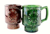 Vintage Rare Beauce Canada Terre Des Hommes Montreal Collectible Mugs lot or 2