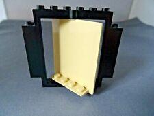 LEGO PART S30102 & 40269 BLACK FRAME & LIGHT TAN  DOOR SWIVEL