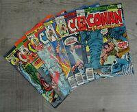 Marvel Comics 70's Conan The Barbarian All Colour Two Comic Book Bundle 6 Total