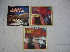 GOLDEN HAMMOND + HAMMOND IN GOLD- Compilations orgue Hammond- Lot de 3 LP