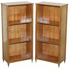 SUBLIME PAIR OF EARLY 19TH CENTURY FRENCH MAHOGANY DWARF OPEN BOOKCASES BRONZE