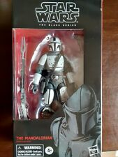 Star Wars The Black Series Custom Mandalorian 6? Figure white armor cape