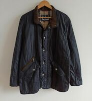Barbour Shed Quilted Jacket Men XL Dress Tartan capsule Lightweight wadding Navy