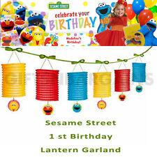 SESAME STREET 1ST BIRTHDAY PARTY HANGING LANTERN GARLAND DECORATION STRING KIDS