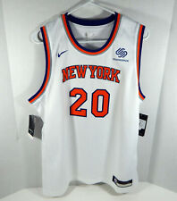 Juventud Nueva York Knicks Kevin Knox #20 Blanco Assoc Jersey Swingman L Nike Nuevo Con Etiquetas