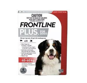 Frontline Plus Dog 40-60Kg Xlarge Red 6 Pack