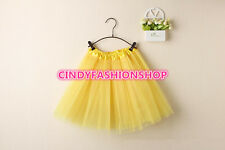 USA Women/Adult Classic Elastic 3-Layered Tulle TUTU Skirt Ballet Dancewear