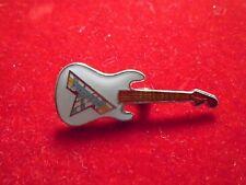 "Van Halen / 1990's Cloisonne Jewelry Pin-on ""Guitar-white"" New / 9/16 x 1 1/2"""