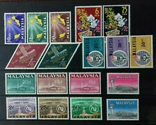 MALAYSIA 1963 - 1965 COMPLETE SET SG 1 - 19 MNH/MH OG