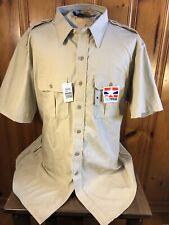 NWT Propper Tactical Shirt Khaki Beige Short Sleeve Mens Size 2XL Button Up