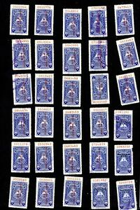 NICARAGUA LOT of 30 FISCAL STAMPS