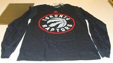 Nba Toronto Raptors ir a Negro Rojo Gris Manga Larga T Shirt Baloncesto Mediano
