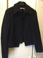 LK Bennett Ladies Black Wool Blend Thick Formal Business Jacket Short FitUK10-12