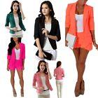 Fashion Candy Colors Women's Slim Casual Blazer Suit Jacket Coat Outwear
