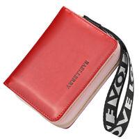 Women Small Leather Wallet RFID Blocking Credit Card Holder Mini Bifold Purse