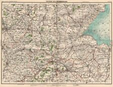 THE FENS. Isle of Ely Fenland Kesteven Holland Fenland Peterborough 1898 map