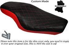 TWOTONE DIAMOND BRIGHT RED CUSTOM FOR HARLEY SPORTSTER 883 1200  DUAL SEAT COVER