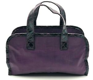 New! Estee Lauder  Cosmetic Makeup Bag with Handle ~ Purple Color