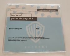 LOU REED 'Paranoia Key Of E' CD Single PROMO 2000