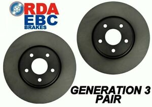 Alfa Romeo 2000 Spider Roadster 1972-1976 REAR Disc brake Rotors RDA354 PAIR