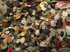 Huge Mixed Lot of Buttons Vintage Metal Plastic Wood