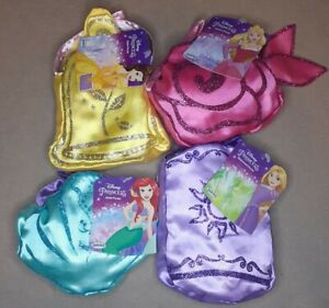 4 Disney princess purse, play pretend, dress up Rapunzel Belle Ariel Aurora