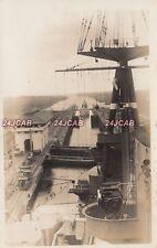 "Royal Navy RP Postcard. HMS ""Nelson"" Battleship. Panama Canal. Funnel. Feb, 1931"