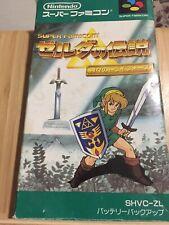 Super Famicom The Legend of Zelda: Triforce of the Gods in Box Jp US Seller