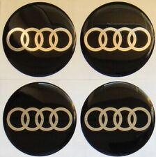 4x Audi 55mm Silikonaufkleber Felgendeckel Radnabenkappen Emblem