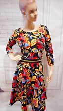NWOTD Traffic People 60s Monkey Bussiness Swing Dress in Black Sz L ZIPPER READ