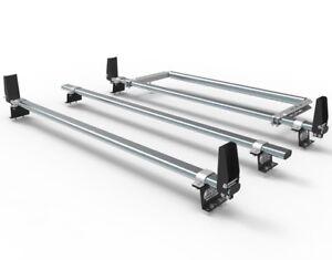 Transit Custom Van Roof Rack bars - 3 bar + stops + rear roller guard AT86LS+A30
