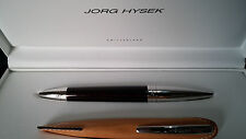 JORG HYSEK roller red/steel/silver carbon + holder and case