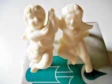 PartyLite New In Box Cherub 2 Candlestick Holders