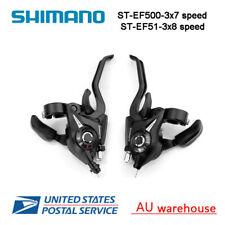 Shimano MTB Bike Brake Levers 3x7 3x8 Speed Set Brake Shifter ST-EF51 GEAR Black