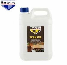 Bartoline Teak Oil 5L Wood  Oil Protects gives Natural Sheen 5 Litre