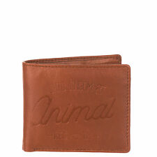 ANIMAL MENS WALLET.PEAKO FAUX LEATHER TAN COIN CREDIT CARD MONEY PURSE 7W 12 167
