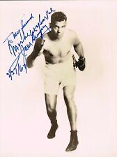 Jack Dempsey  original autographed signed photograph 1961 boxing legend
