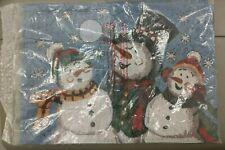 Snowman Family Table Linens Place Mats Set of 4